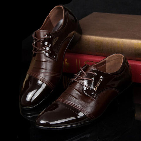 Business, elegant brown shades lace up, entrepreneur, classy fashion men's shoes