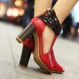 Genuine Leather Ankle Shoes