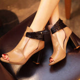 Genuine leather high fashion style tan sexy shoes