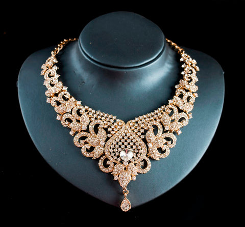 copper, alloy, glas elegant women's necklace set
