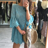 Light blue short beautiful women's dress