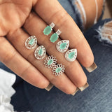 Beautiful green rocks fashion earrings