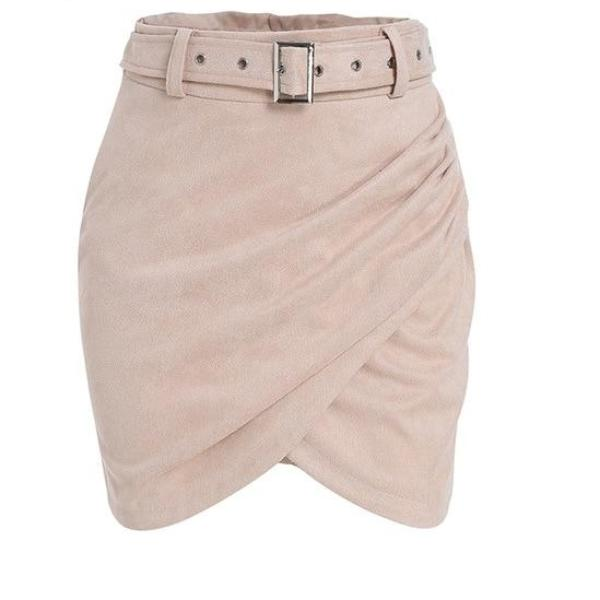 Light Pink High Waisted Wrap Skirt