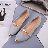 Flat pointed toe, comfortable, elegant beautiful women's shoes