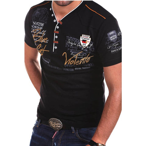 Black designer style v-neck stylish shirt
