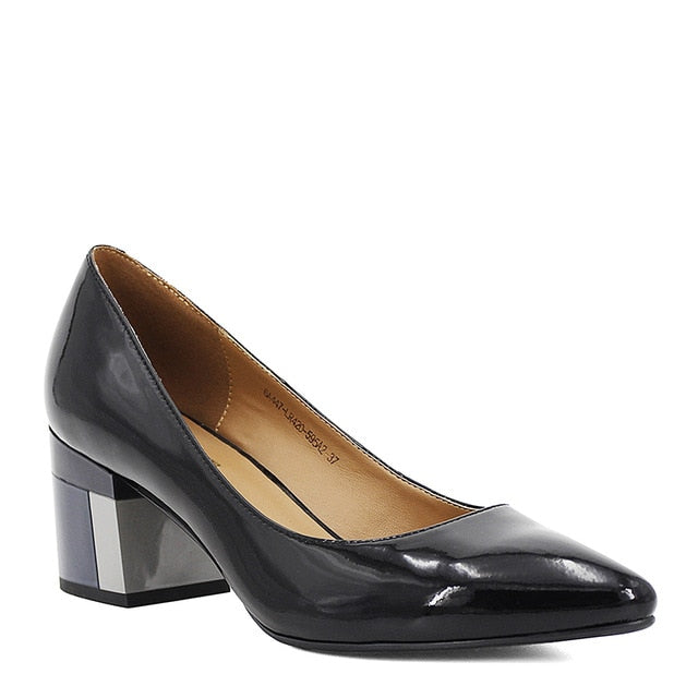 Pointed Toe Real Leather Shoes