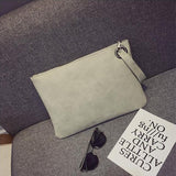 Solid Color Clutch Bag