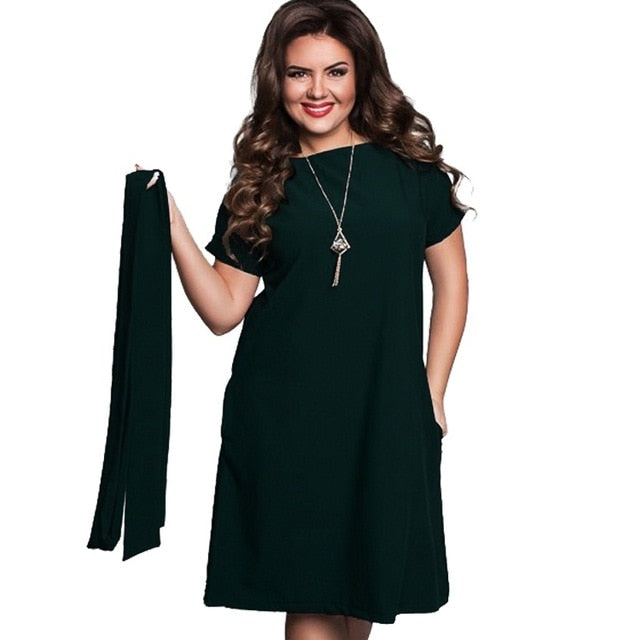 dark green elegant women's dress