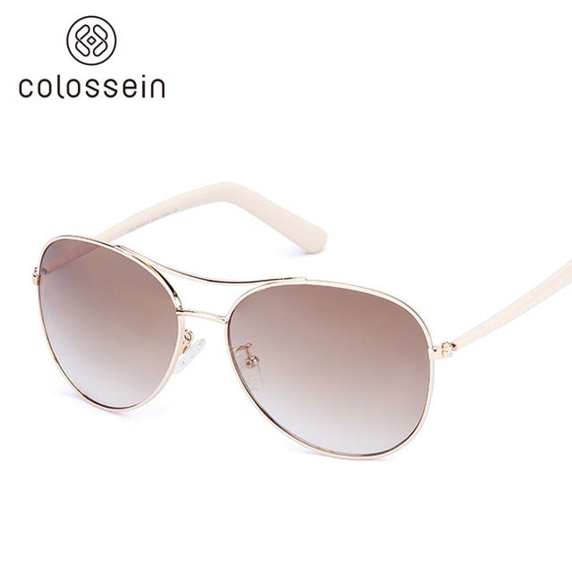 Women's Metal Frame Pilot Sunglasses