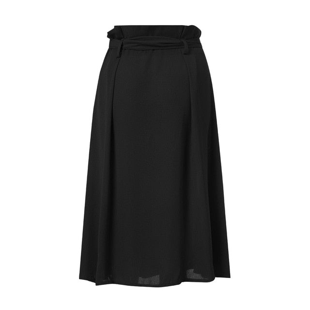 Front Tie Button Skirt