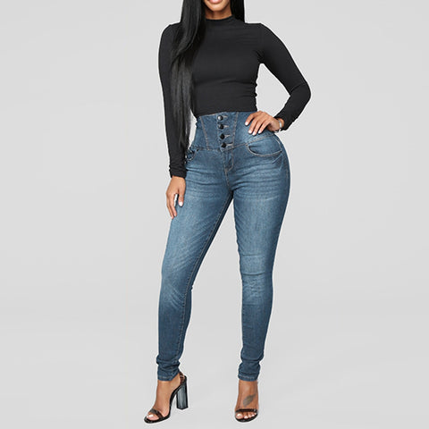 pencil, button women's plus size jeans
