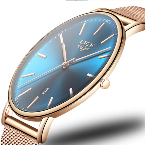 Ultra thin, excellent quality, elegant stainless steel women's watch