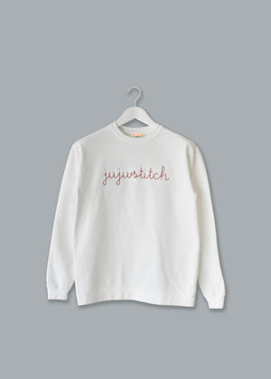 Adult Vintagewash Crewneck Sweatshirt (Unisex) juju + stitch  custom personalized script embroidered crewneck sweatshirt