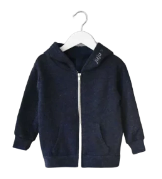 Adult Zip Fleece Hoodie (Unisex) juju + stitch  custom personalized script embroidered zip-up fleece sweatshirt