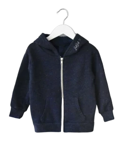Little Kids Zip Fleece Hoodie juju + stitch  custom personalized script embroidered zip-up fleece hoodie