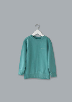 Adult Vintagewash Crewneck Sweatshirt (Unisex) juju + stitch Adult M / Seafoam custom personalized script embroidered crewneck sweatshirt