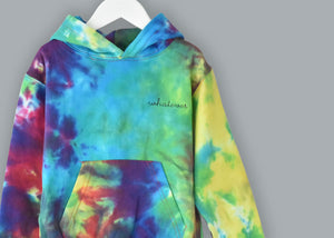 Adult Tie-Dye Pullover Hooded Sweatshirt (Unisex) juju + stitch  custom personalized script embroidered tie dye hoodie