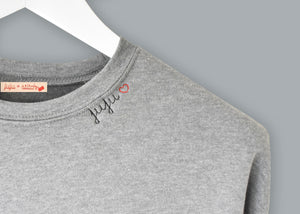 Ladies' Cropped Fleece Crewneck juju + stitch  custom personalized script embroidered cropped sweatshirt