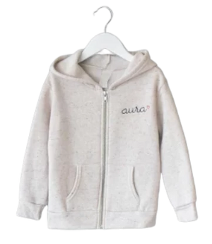 Adult Zip Fleece Hoodie (Unisex) juju + stitch  custom personalized script embroidered zip-up sweatshirt