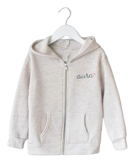 Baby Zip Fleece Hoodie juju + stitch  custom personalized script embroidered zip-up fleece