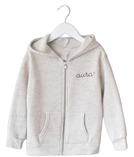 Big Kids Zip Fleece Hoodie juju + stitch  custom personalized script embroidered zip-up fleece sweatshirt