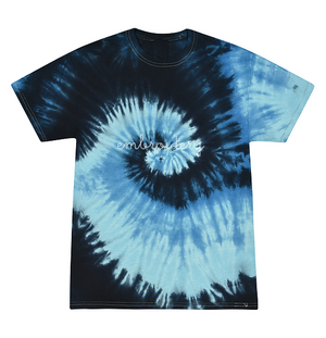 Adult Tie-Dye T-shirt (Unisex) juju + stitch Adult S / Deep Blue custom personalized script embroidered kids tie dye t-shirt