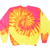 Adult Tie-Dye Crewneck Fleece Sweatshirt (Unisex) juju + stitch Adult S / Neon Yellow Pink custom personalized script embroidered tie dye crewneck fleece sweatshirt