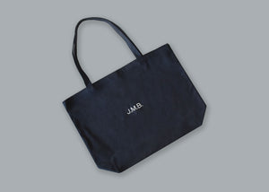 Canvas Tote Bag juju + stitch O/S / Washed Black custom personalized script embroidered canvas tote bag
