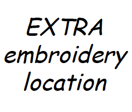 Extra Embroidery Location