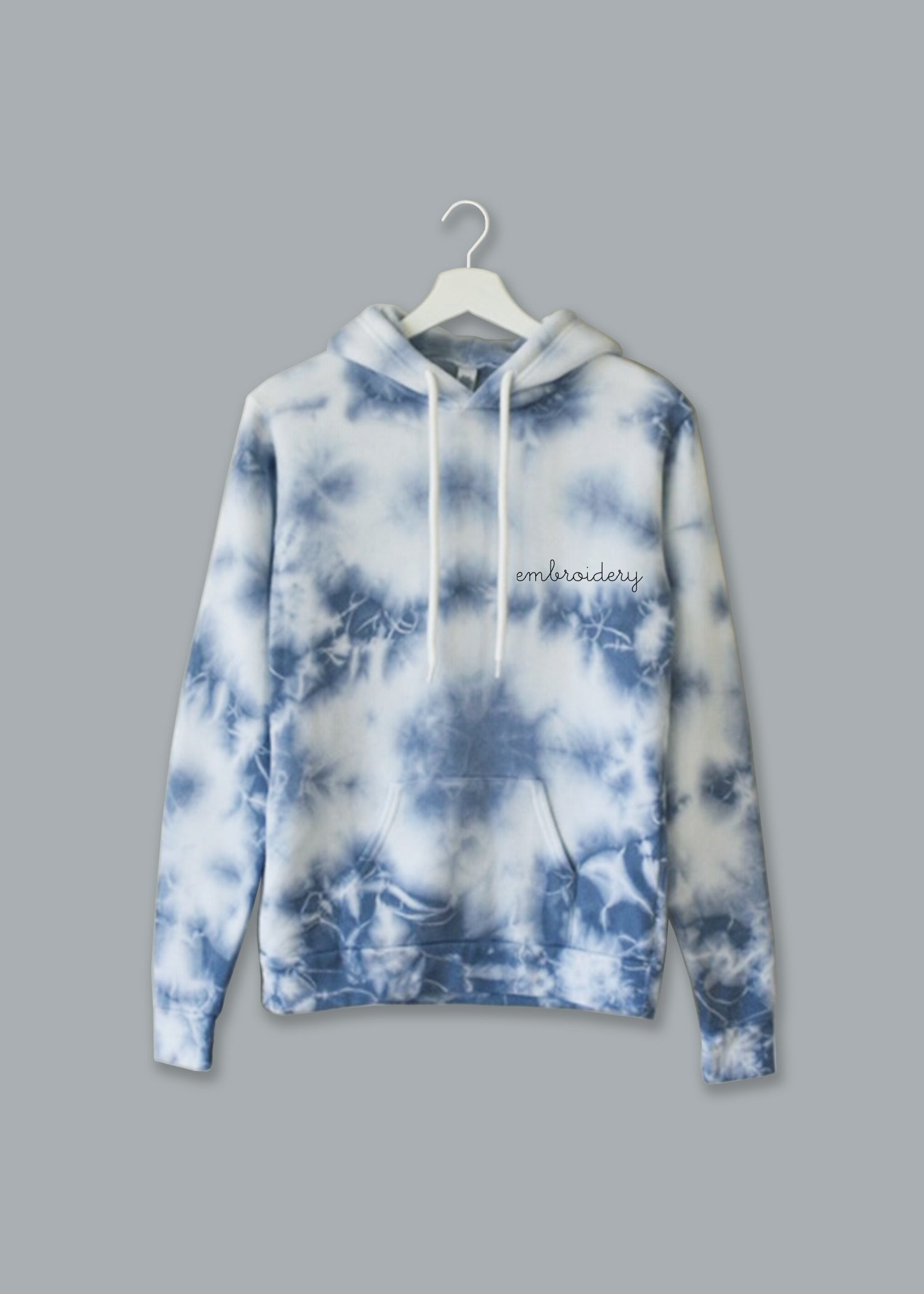 Adult Supersoft Marbled Tie-Dye Hoodie (Unisex) juju + stitch  custom personalized script embroidered tie dye marble hoodie