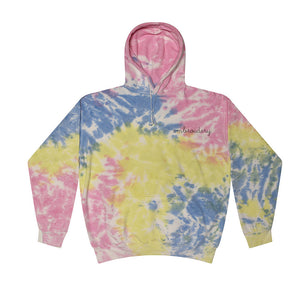 Adult Tie-Dye Pullover Hooded Sweatshirt (Unisex) juju + stitch Adult M / Yellow Candy custom personalized script embroidered tie dye hoodie