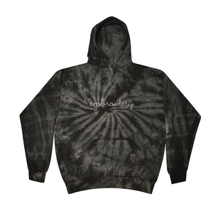Kids Tie-Dye Pullover Hooded Sweatshirt juju + stitch  custom personalized script embroidered tie dye hoodie