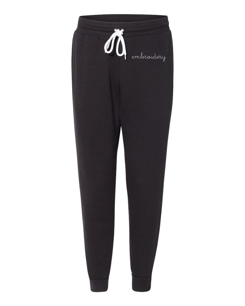 New! Adult Jogger Sweatpants (Unisex) juju + stitch Black / XS custom personalized script embroidered jogger sweatpants