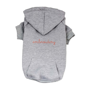 Dog Hoodie juju + stitch S / Heather Gray custom personalized script embroidered dog puppy pet hoodie