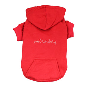 Dog Hoodie juju + stitch S / Red custom personalized script embroidered dog puppy pet hoodie