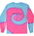 Kids Tie-Dye Longsleeve Shirt juju + stitch KIDS 2-4 / Neon Blue Pink custom personalized script embroidered tie dye kids longsleeve shirt