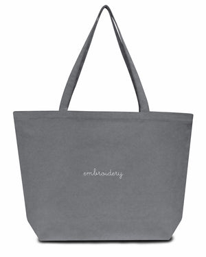 Canvas Tote Bag juju + stitch  custom personalized script embroidered canvas tote bag