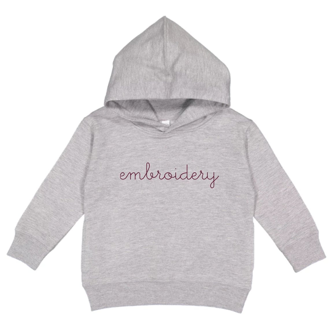 Little Kids Classic Pullover Hoodie juju + stitch 2T / Heather Gray custom personalized script embroidered pullover hoodie kids