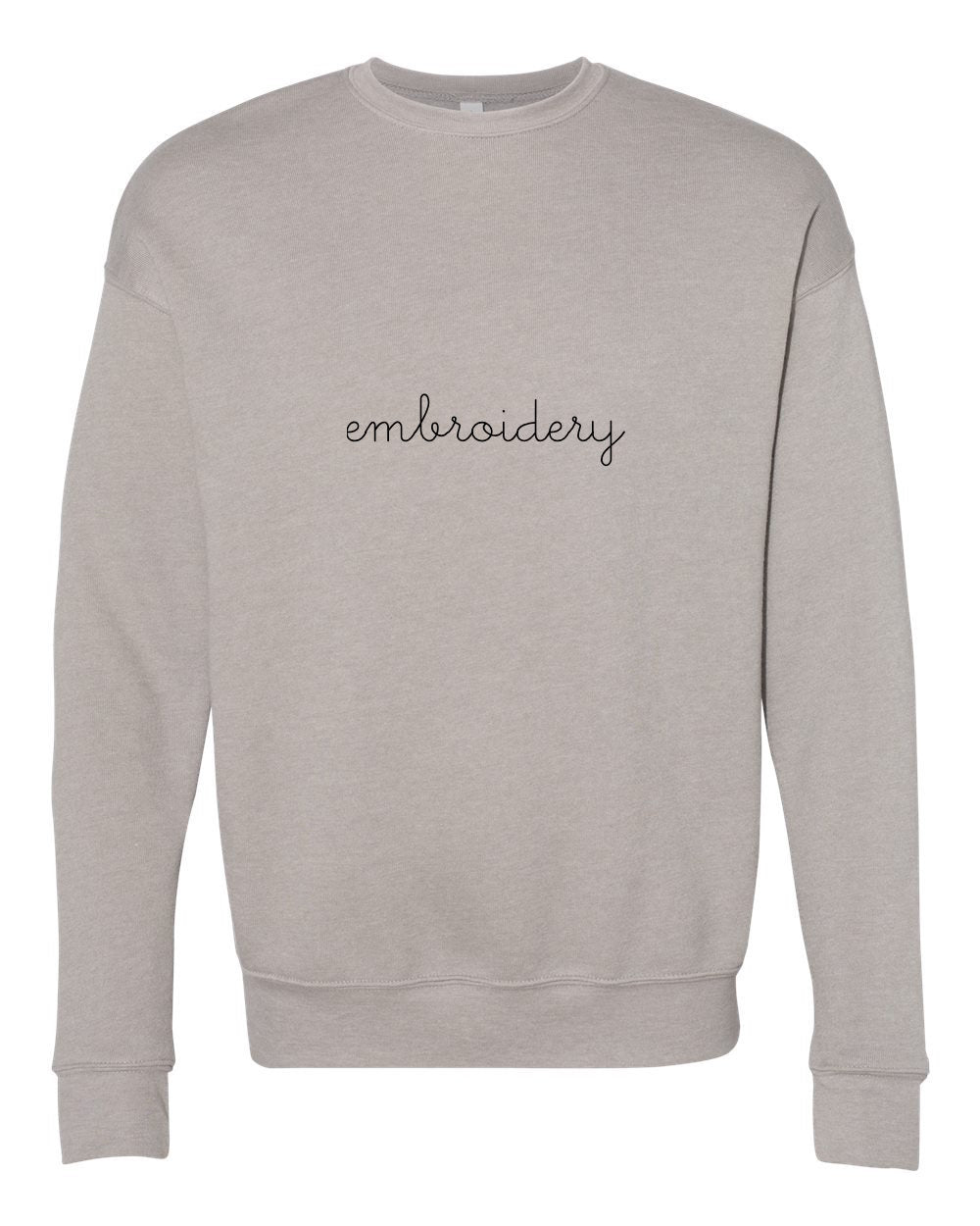 Adult Classic Crewneck Fleece (Unisex) juju + stitch S / Taupe custom personalized script embroidered crewneck fleece