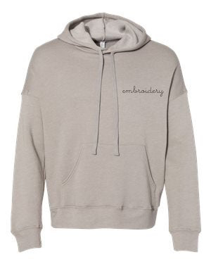Adult Supersoft Classic Hoodie (Unisex) juju + stitch Adult XS / Taupe custom personalized script embroidered hoodie