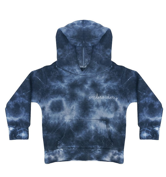 Kids Supersoft Marbled Tie-Dye Hoodie juju + stitch Toddler 2 / Black Marble custom personalized script embroidered tie dye marble kids hoodie