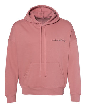 Adult Supersoft Classic Hoodie (Unisex) juju + stitch Adult XS / Mauve custom personalized script embroidered hoodie