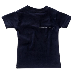 Adult Solid Shortsleeve T-shirt (Oversized) juju + stitch Adult Small / Navy custom personalized script embroidered kids t-shirt