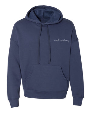 Adult Supersoft Classic Hoodie (Unisex) juju + stitch Adult XS / Navy custom personalized script embroidered hoodie