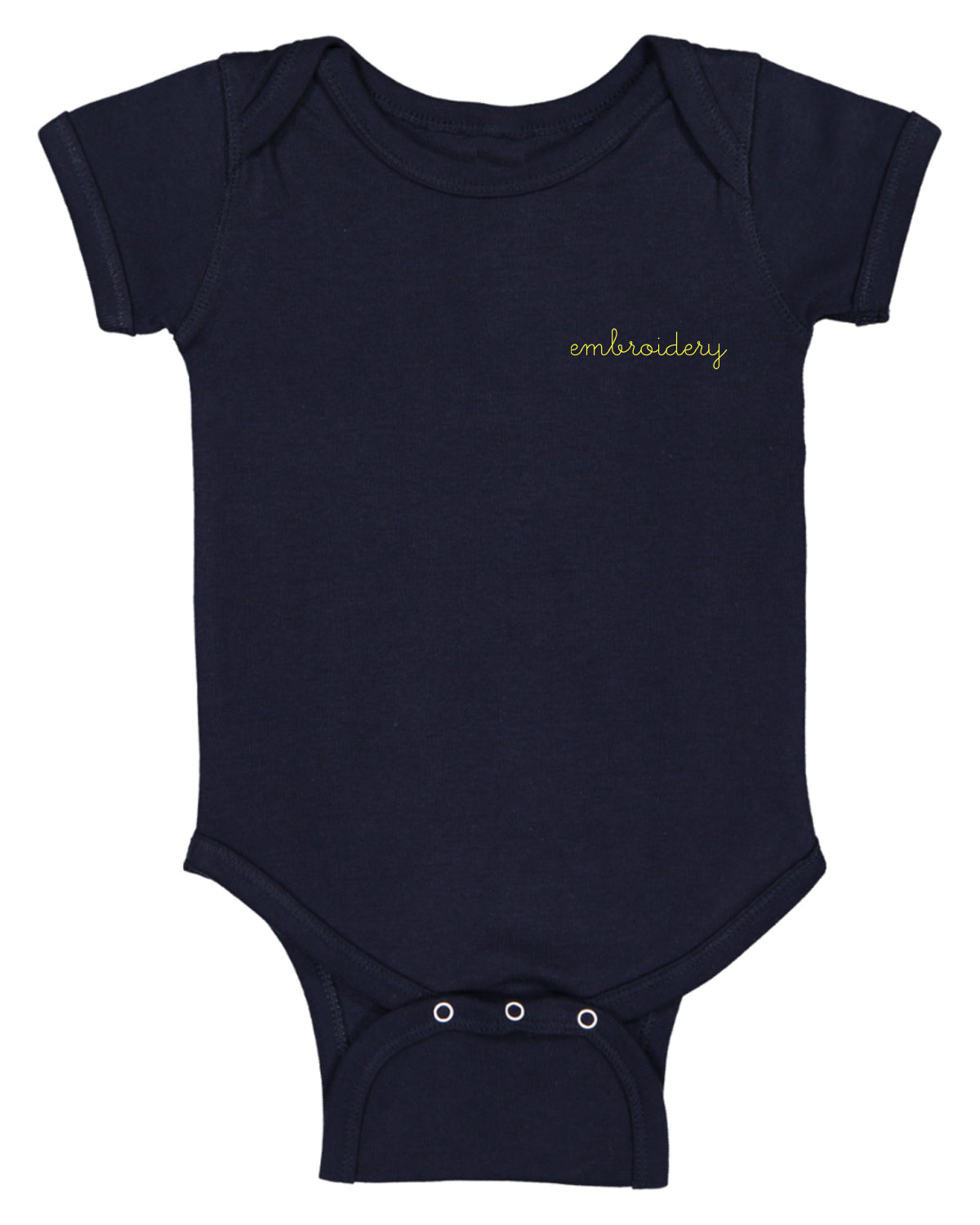 Baby Shortsleeve Onesie juju + stitch Newborn / Navy Stripe custom personalized script embroidered baby onesie bodysuit