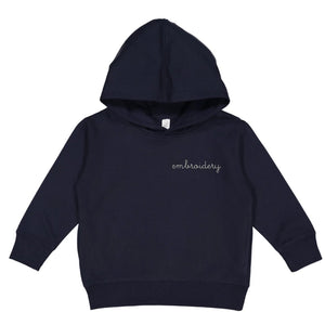 Little Kids Classic Pullover Hoodie juju + stitch 2T / Navy custom personalized script embroidered pullover hoodie kids