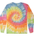 Adult Tie-Dye Longsleeve Shirt (Unisex) juju + stitch Adult S / Pastel Rainbow custom personalized script embroidered tie dye longsleeve shirt