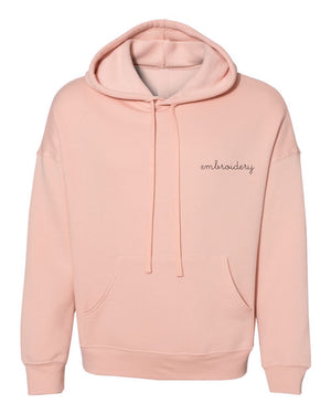 Adult Supersoft Classic Hoodie (Unisex) juju + stitch Adult XS / Peach custom personalized script embroidered hoodie
