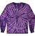 Kids Tie-Dye Longsleeve Shirt juju + stitch KIDS 2-4 / Spiral Purple custom personalized script embroidered tie dye kids longsleeve shirt