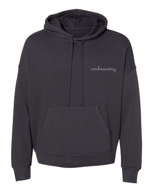 Adult Supersoft Classic Hoodie (Unisex) juju + stitch Adult XS / Solid Charcoal custom personalized script embroidered hoodie